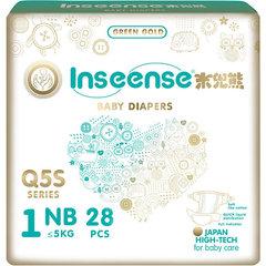 INSEENSE. Подгузники для новорожденных с вырезом для пупка NB Q5S 0-5 кг, 1уп/28 шт