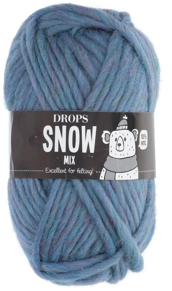 Пряжа Drops Snow Eskimo 84 серо-синий микс