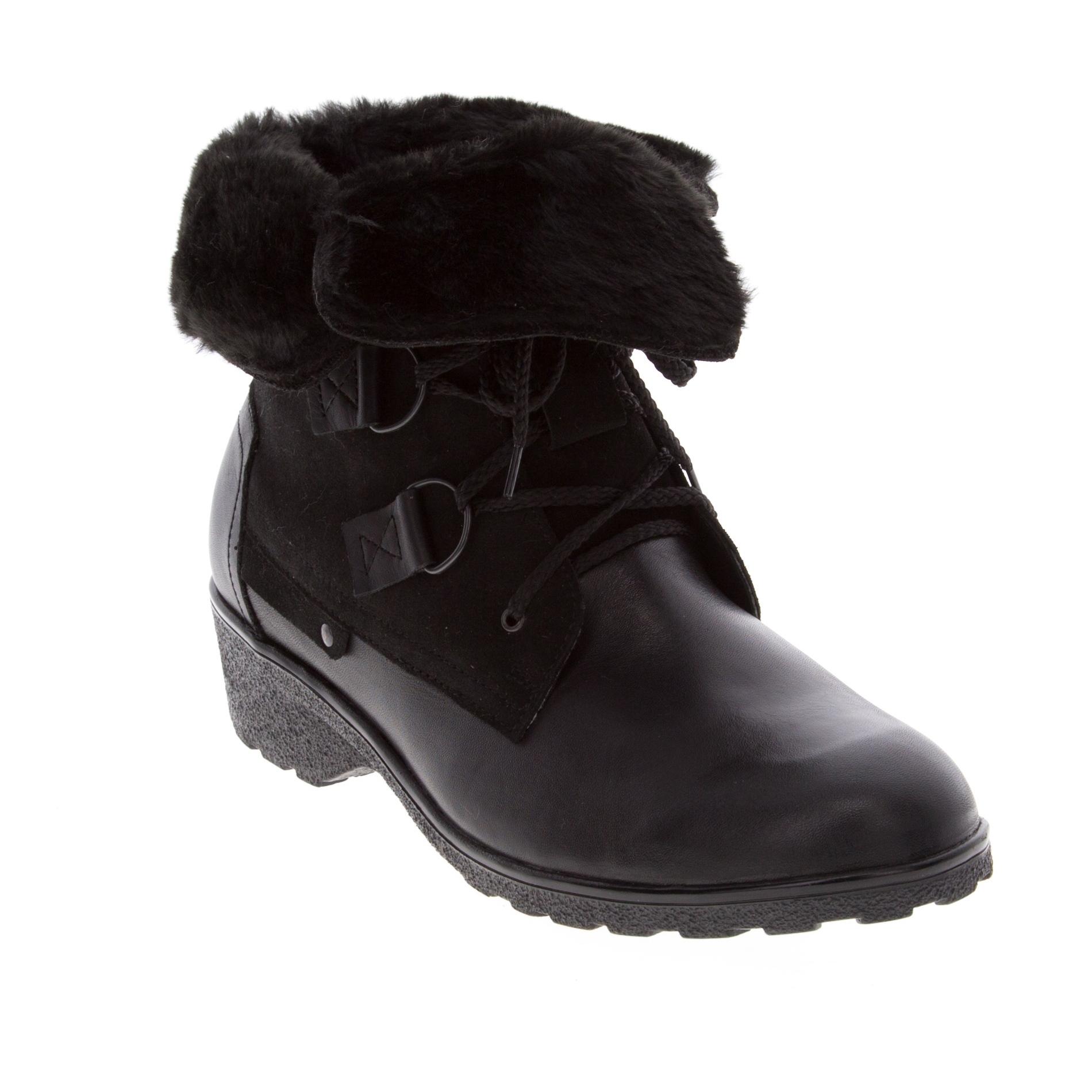 571401 Ботинки женские черные больших размеров марки Делфино