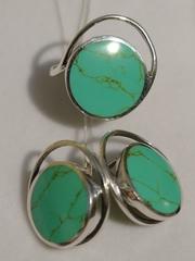 Путорана (кольцо + серьги из серебра)