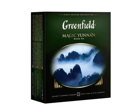 Чай черный в пакетиках Greenfield Magic Yunnan, 100 пак/уп