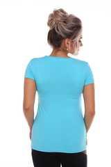 Мамаландия. Футболка для беременных и кормящих на запах, ярко-голубой вид 3