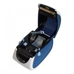 Термопринтер этикеток Mertech MPRINT LP80 EVA RS232-USB White-Blue, 203 dpi, термопечать, ширина 80 мм, 1D/2D, Честный Знак, ЕГАИС, QR-код, Bartender