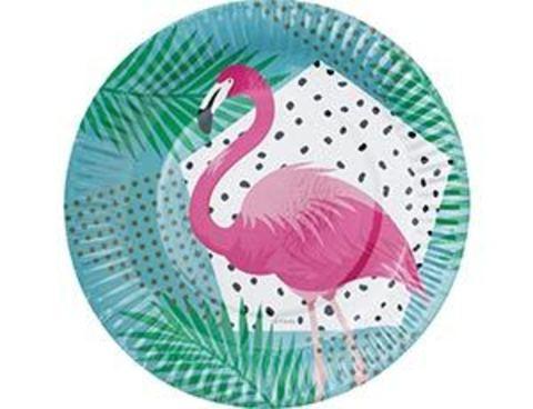Тарелка бум Фламинго 17см 6шт