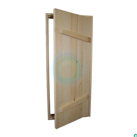 Двери банные 800*1900 (доска сосновая)