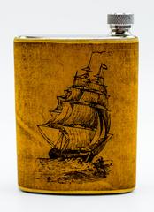 Фляга «Корабль», 250 мл, в чехле, фото 1