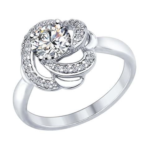 89010049 - Кольцо из серебра с кристаллом SWAROVSKI