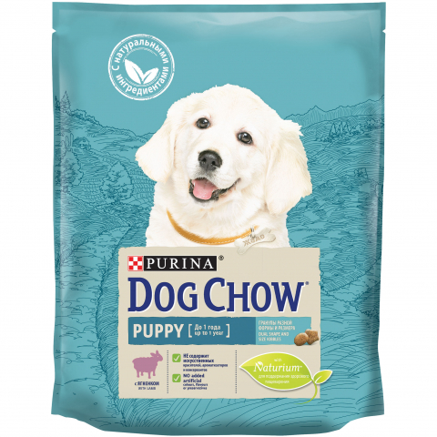 PURINA DOG CHOW Сухой корм для щенков с ягненком Puppy Lamb