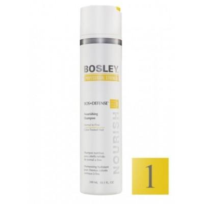 Bosley PRO Defense Желтая линия: Шампунь питательный для нормальных и тонких окрашенных волос (Nourishing Shampoo Normal To Fine Color-Treated Hair), 1л