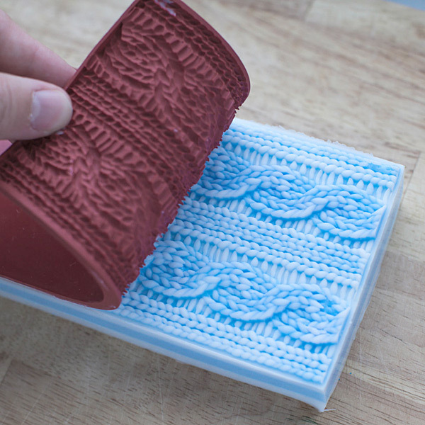 Текстурный лист Вязаный орнамент