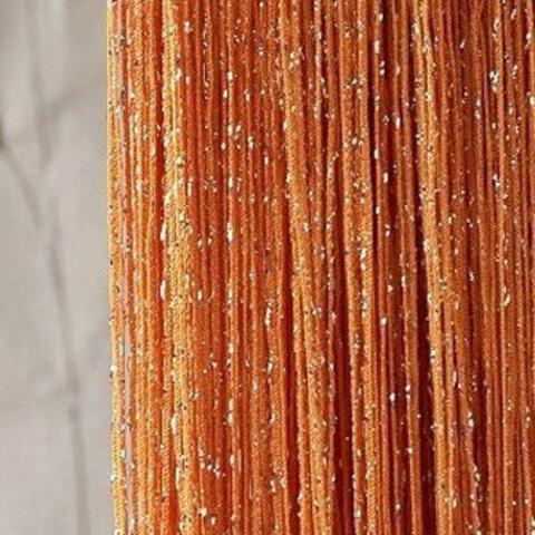 Шторы дождь однотонные - Оранжевые. Ш-300см., В-280см. Арт. 3