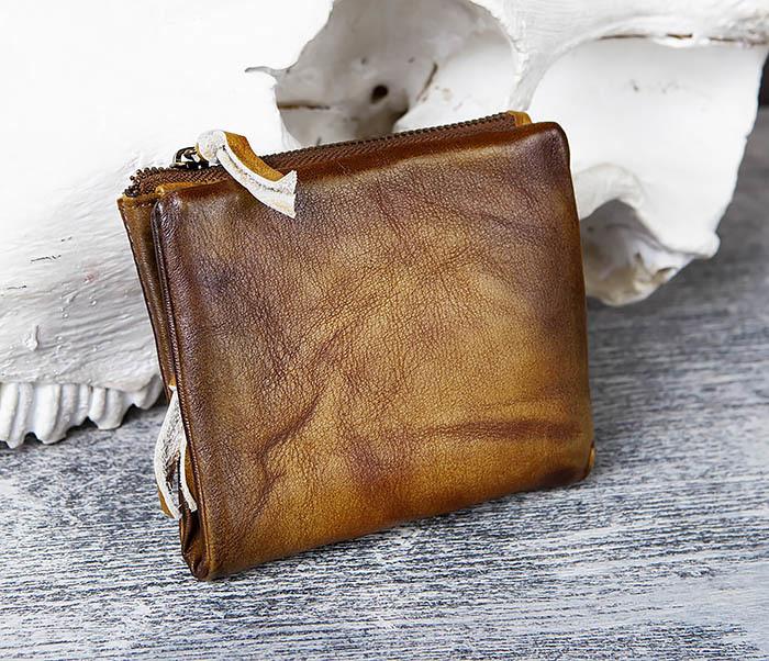 WL304-2 Винтажный кошелек из натуральной кожи фото 03
