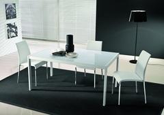 Стол LEO (42.52)160/210/260x90xН75 см (М310/M310/С196 гл.ст в цв.антр/L045 антр) — серый