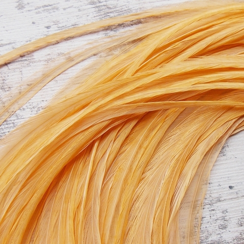 Перо из седла петуха Golden Straw (10 шт)