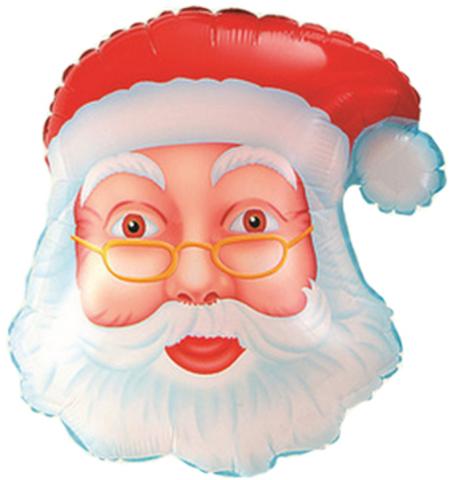 Фигура Голова Деда Мороза, 66 см
