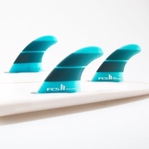 Плавники FCS II Performer Neo Glass Tri Fins Teal Gradient Large