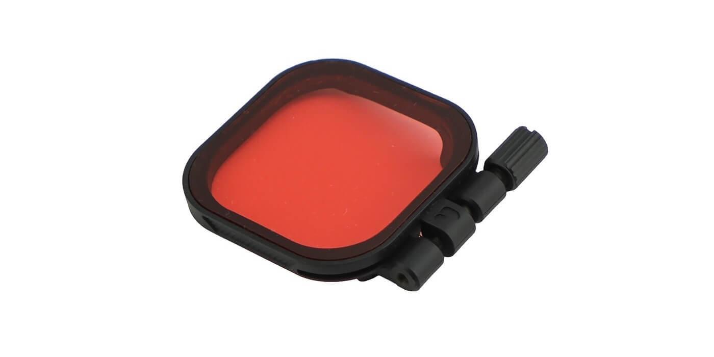 Красный фильтр PolarPro RED на бокс HERO8 Black внешний вид