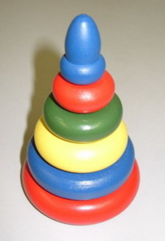 Пирамидка разноцветная 6 дет.