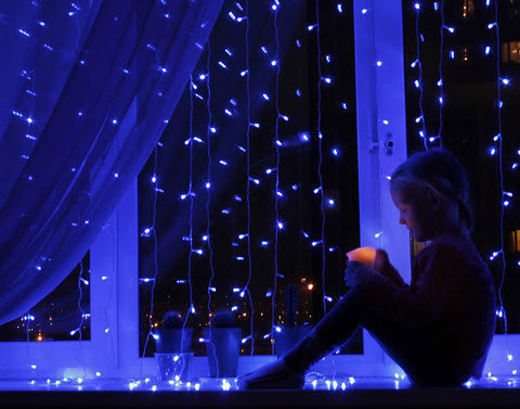 светодиодная гирлянда занавес 2 на 1,5 380 светодиодов