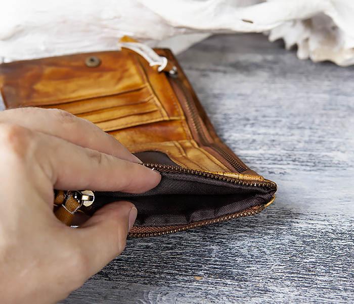 WL304-2 Винтажный кошелек из натуральной кожи фото 05