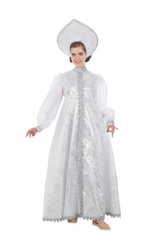 Костюм Снегурочка Царевна в белом платье