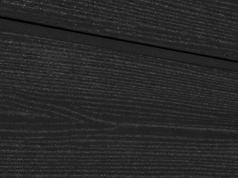 Cайдинг из ДПК. Радиальный распил. Цвет черный.