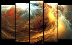 """Модульная картина """"Абстрактные желтые облака"""""""