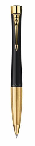 Подарочный набор из 2-х ручек Parker URBAN Matte black GT перьевая+шариковая ручки123