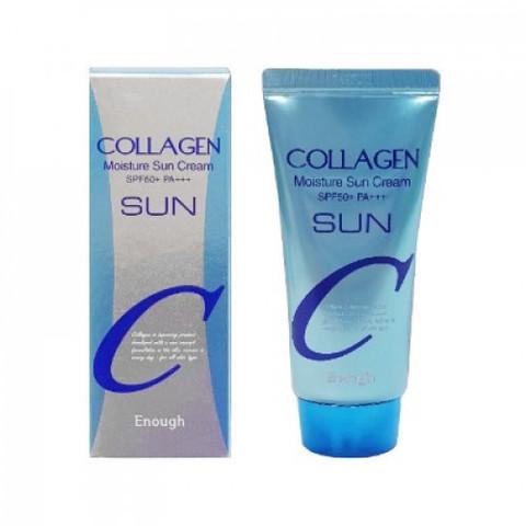 Enough Солнцезащитный крем для лица с коллагеном Collagen Moisture Sun Cream SPF 50+ PA+++, 50 мл