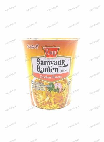 Корейская лапша быстрого приготовления со вкусом курицы Samyang Ramen, 65г