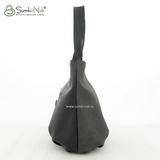 Сумка Саломея 1079 флок серый + черный