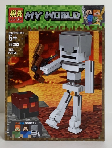 Майнкрафт 33253 Скелет с кубом магмы 156 д Конструктор