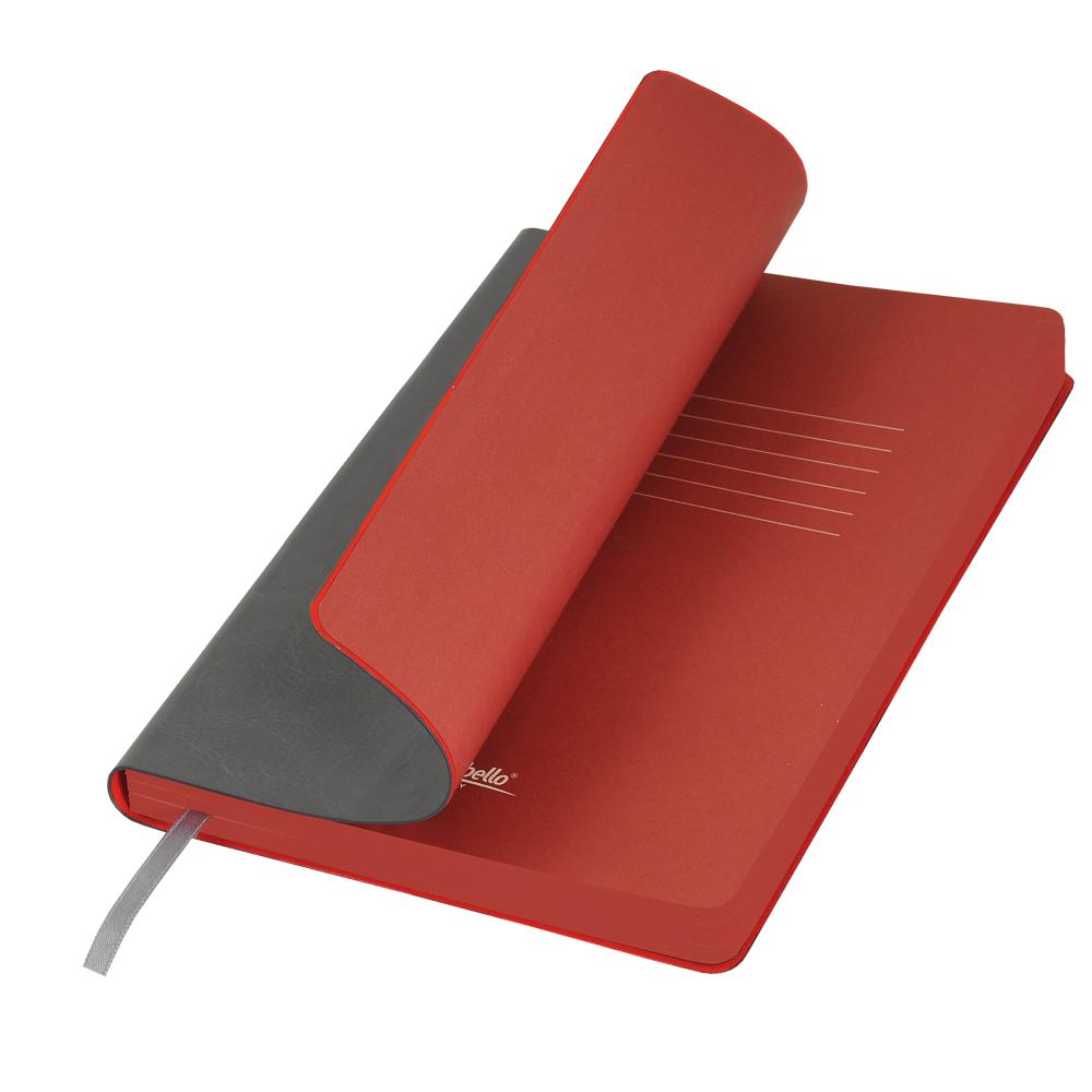 Ежедневник Portobello Trend, River side, недатированный, серый/красный