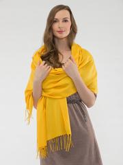 Шарф женский желтый aksisur теплая пашмина 04