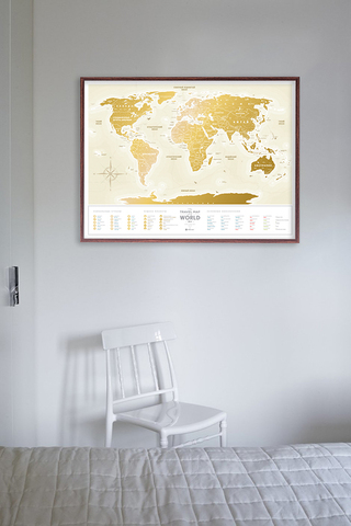 Скретч Карта Travel Map Gold World RU 1DEA.ME