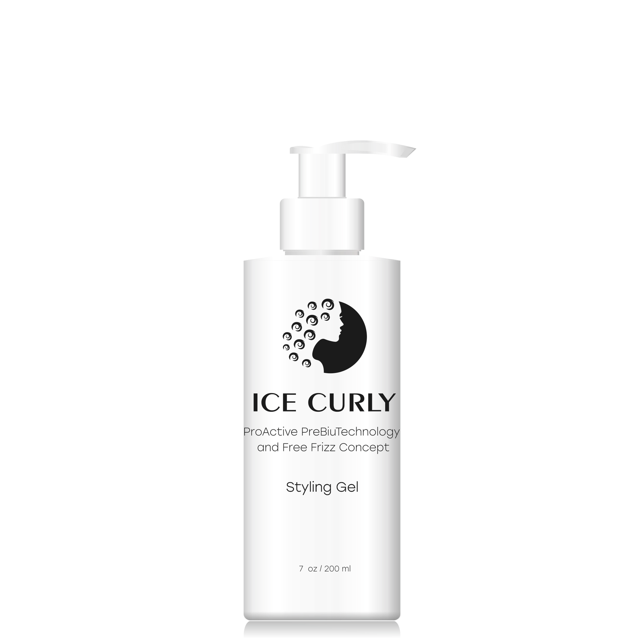 ICE CURLY, гель для укладки волос, для кудрявых волос, ProActive PreBiuTechnology and Free Frizz Concept Styling Gel