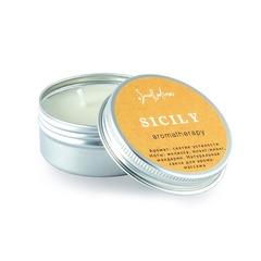 Свеча для аромамассажа - аромат мелиссы и мандарина Сицилия, мини-версия, SmoRodina