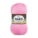 Пряжа Nako Estiva 6668 ярко-розовый