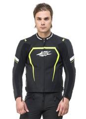 Мотокуртка спортивная Sweep Jester, чёрный/жёлтый