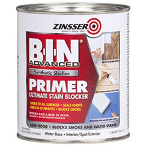 ZINSSER BIN Advanced Synthetic Shellac Primer White грунт пятноустраняющий и блокирующий запахи