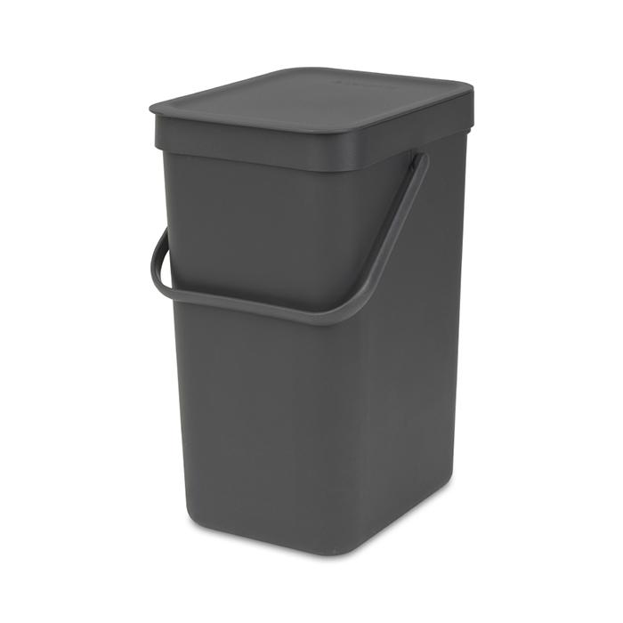 Встраиваемое мусорное ведро Sort & Go (12 л), Серый, арт. 109805 - фото 1