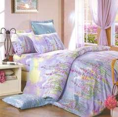 Сатиновое постельное бельё  1,5 спальное Сайлид  В-143