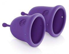 Набор из 2 фиолетовых менструальных чаш