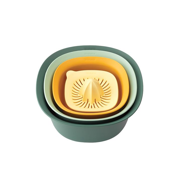 Кухонный набор (миски 1,5 л и 3,2 л; мерный стакан / соковыжималка 0,5 л), арт. 122262 - фото 1