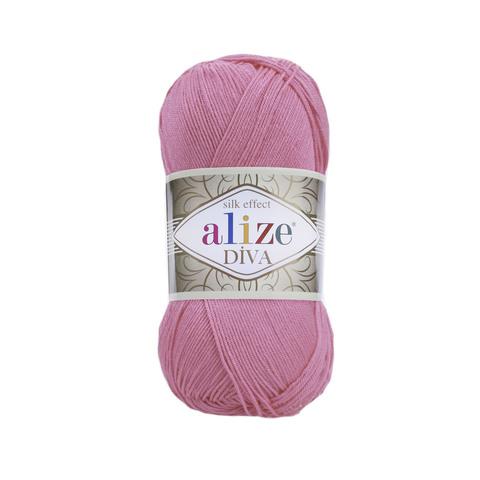 Пряжа Alize Diva 178 ярко-розовый