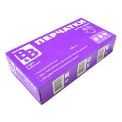 B&B, виниловые перчатки, размер M, 50пар или 100шт, цвет прозрачный