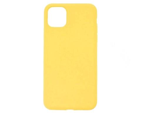 Чехол для iPhone 11 ProMax Софт тач мягкий эффект | микрофибра желтый