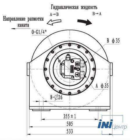 Эвакуационная лебедка IYJ2.53-25-165-14-ZPN