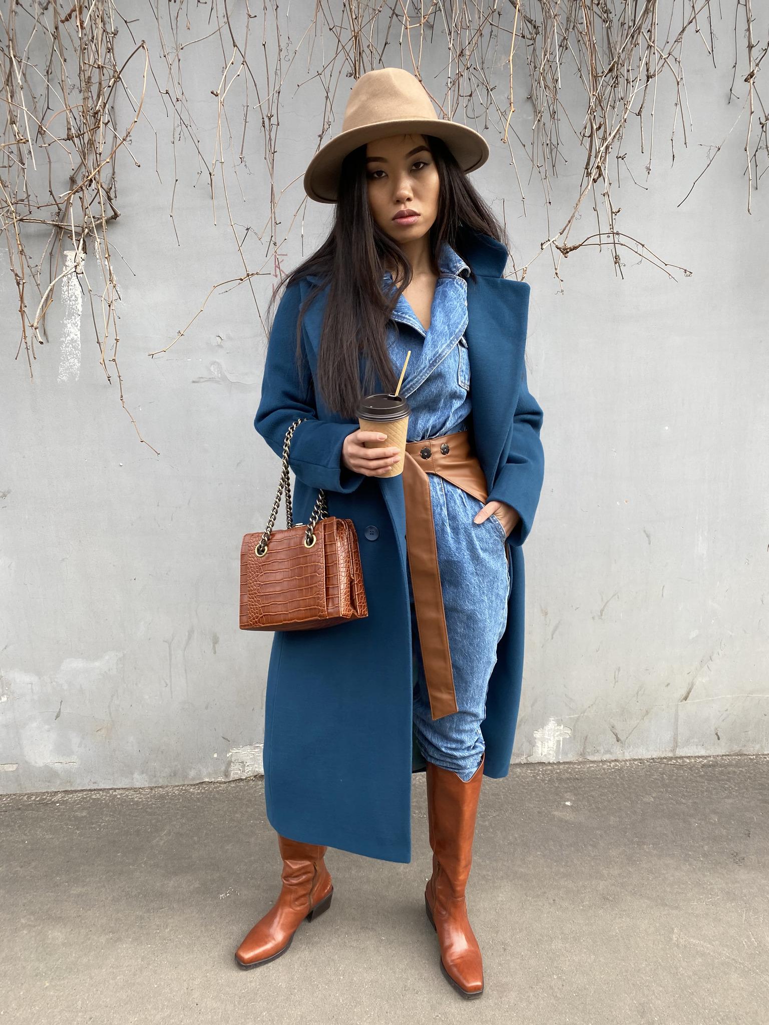 Пальто на пуговицах Space blue