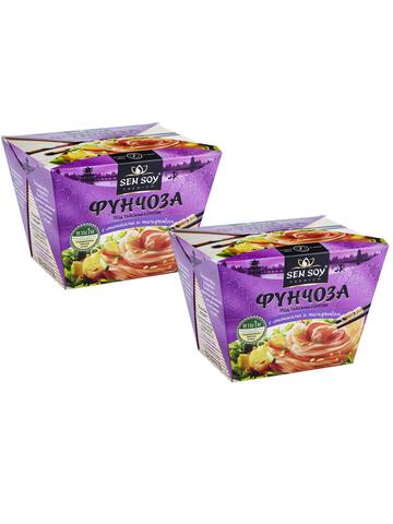 Фунчоза Sen Soy Premium под Тайским соусом 2 штуки по 125 гр 1кор*1бл*2шт